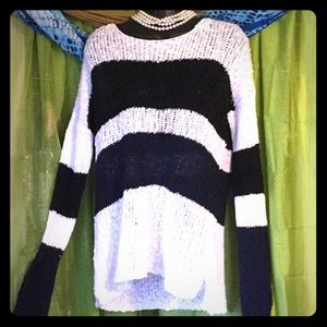 C&C CALIFORNIA Striped Cotton Sweater -Size Med